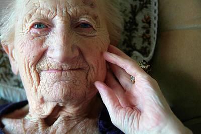 Elderly Woman Art Print