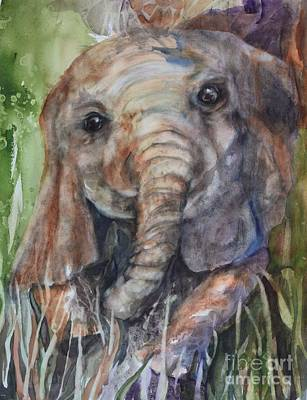 Painting - Ele Baby by Pamela Shearer