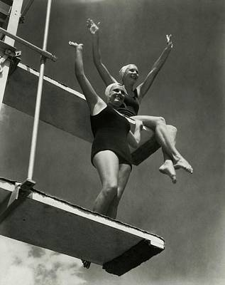 Diving Board Photograph - Eleanor Holm And Helene Madison by Edward Steichen