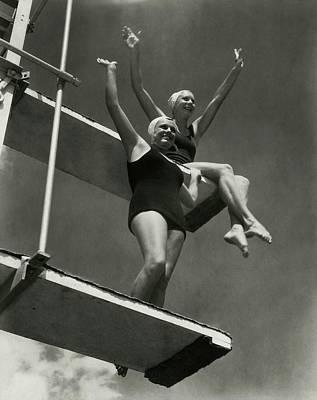 Helene Photograph - Eleanor Holm And Helene Madison by Edward Steichen