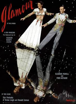 Eleanor Powell And Fred Astaire On The Cover Art Print by Artist Unknown