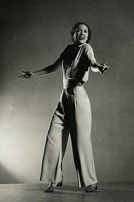 Photograph - Eleanor Powell Tap Dancing In A Pantsuit by Edward Steichen