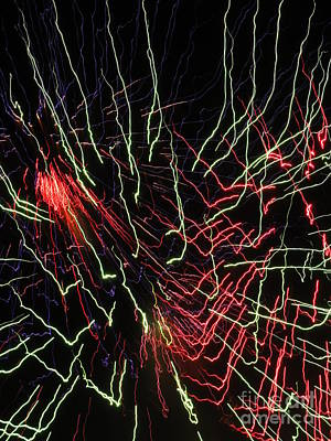 Photograph - Elecdtric City Fireworks 2013 Xi by Daniel Henning