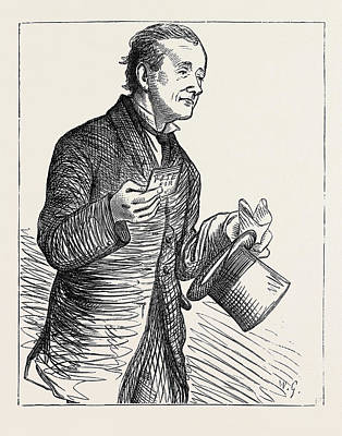 Election Sketches The Paid Canvasser 1880 Art Print