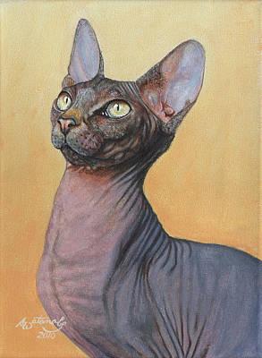 Sphynx Art Painting - Electra by Akiko Watanabe