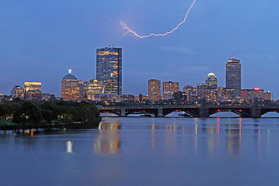 Charles River Photograph - Electric Boston by Juergen Roth