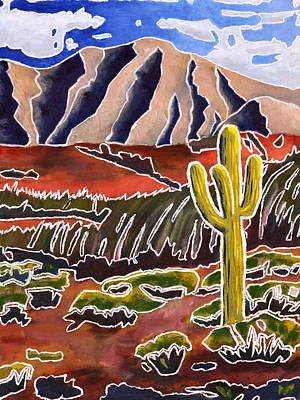 Desert Painting - Electric Cactus by Brad Haugaard