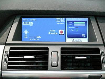 Electric Car Charging Art Print