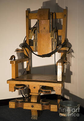 Photograph - Electric Chair by Jim West
