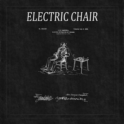 Photograph - Electric Chair Patent 4 by Andrew Fare