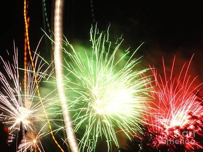 Photograph - Electric City Fireworks 2013 Ix by Daniel Henning