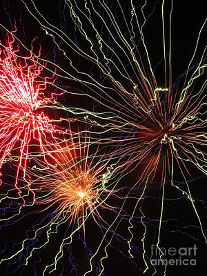 Photograph - Electric City Fireworks 2013 Xii by Daniel Henning