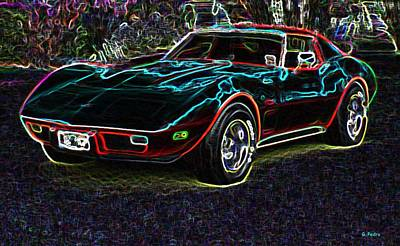 Photograph - Electric Corvette by George Pedro