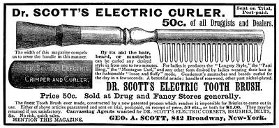 Hygiene Painting - Electric Curler, 1887 by Granger