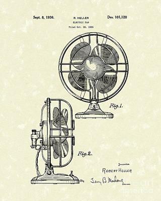 Electric Fan 1936 Patent Art Art Print
