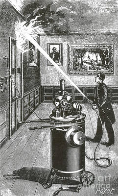 Electric Fire Extinguisher, 1898 Art Print