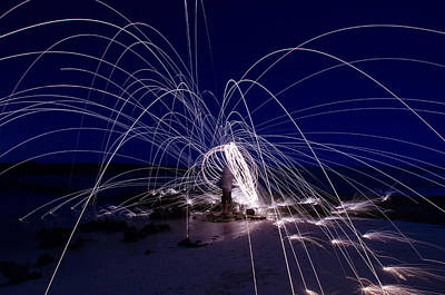 Photograph - Electric Firework by Tin Lung Chao