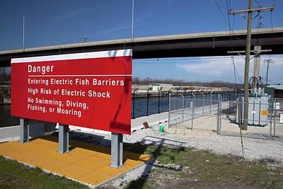 Carp Photograph - Electric Fish Barrier by Jim West