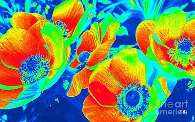Photograph - Electric Floral by Geri Glavis