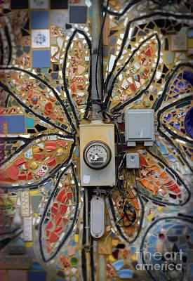 Photograph - Electric Flower by Karen Adams