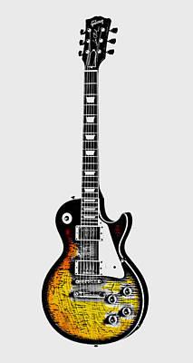 Guitar Player Digital Art - Electric Guitar by Daniel Hagerman