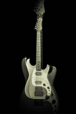 Photograph - Electric Guitar Ghost by Erin Cadigan