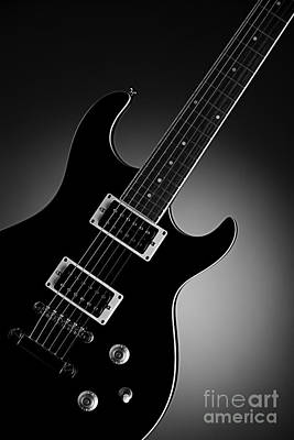 Photograph - Electric Guitar In Black And White by M K  Miller