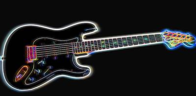 Photograph - Electric Guitar by Judy Vincent