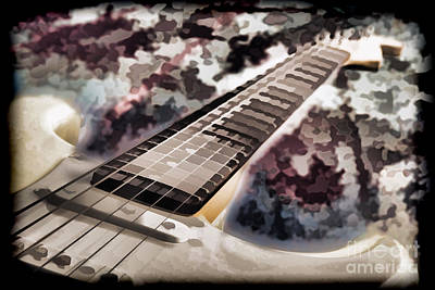 Painting - Electric Guitar Painting Photograph In Color 3318.02 by M K Miller