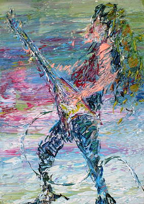 Heavy Metal Painting - Electric Guitarism by Fabrizio Cassetta