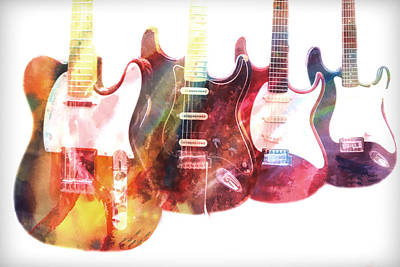 Photograph - Electric Guitars by Athena Mckinzie