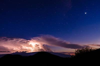 Photograph - Electric Heavens 1 by Jason Chu