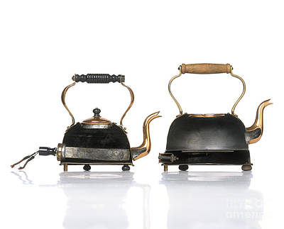Teakettles Photograph - Electric Kettles, 1920s by Dave King / Dorling Kindersley / Science Museum, London