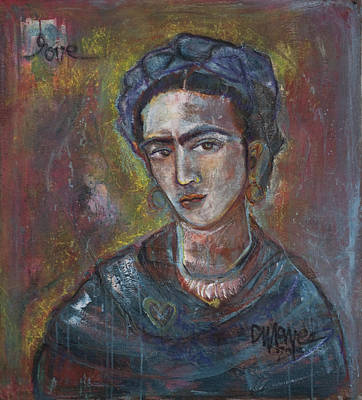 Painting - Electric Light Frida by Laurie Maves ART