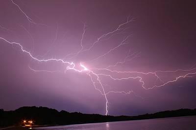 Lightning Photograph - Electric Lightning Sky  by Alexander Spahn
