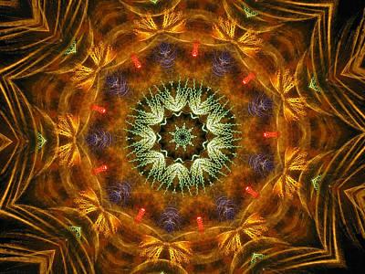 Digital Art - Electric Mandala 1 by Rhonda Barrett