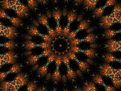Digital Art - Electric Mandala 10 by Rhonda Barrett
