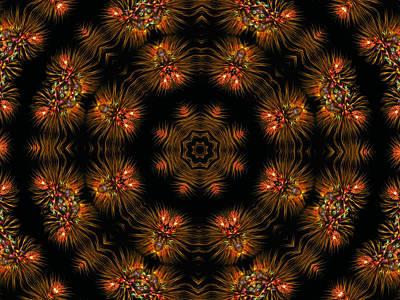 Digital Art - Electric Mandala 9 by Rhonda Barrett