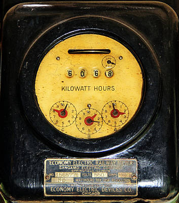 Photograph - Electric Meter by Jim Poulos