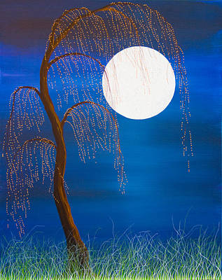 Painting - Electric Moonlight by Andrea Youngman
