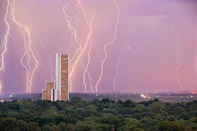 Photograph - Electric Night - Cityplex Towers - Tulsa Oklahoma by Gregory Ballos