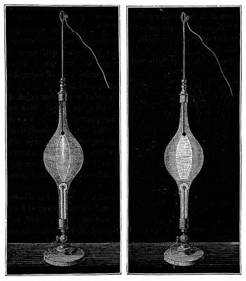 Gas Lamp Photograph - Electric Spark Displays by Science Photo Library