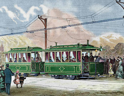 Children Of Color Photograph - Electric Streetcar by Prisma Archivo