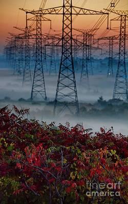 Electric Sumac Autumn Art Print by Henry Kowalski