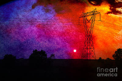 Electric Sunset Art Print