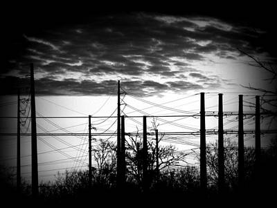 Photograph - Electric Sunset Two Black And White by James Granberry
