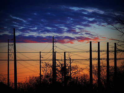 Photograph - Electric Sunset Two by James Granberry