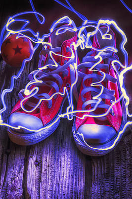 Tennis Photograph - Electric Tennis Shoes  by Garry Gay