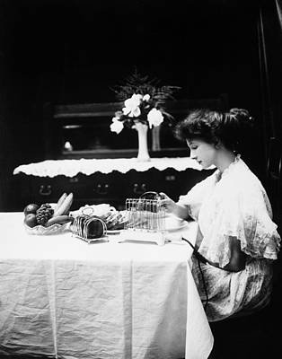 Bowl Of Flowers Photograph - Electric Toaster, 1908 by Granger