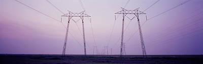 Electric Towers At Sunset, California Art Print